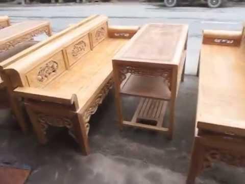 2 bộ trường kỷ gỗ lim, đồ gỗ mỹ nghệ đức hiền,