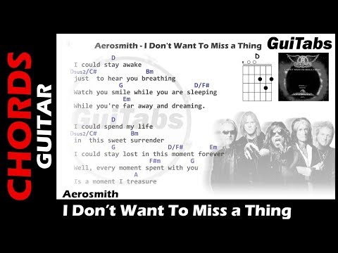 Aerosmith I Don T Wanna Miss A Thing Guitar Chords Choice Image
