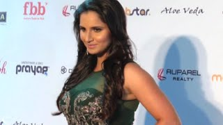 Sania mirza hot on fbb femina miss india 2016 red carpet