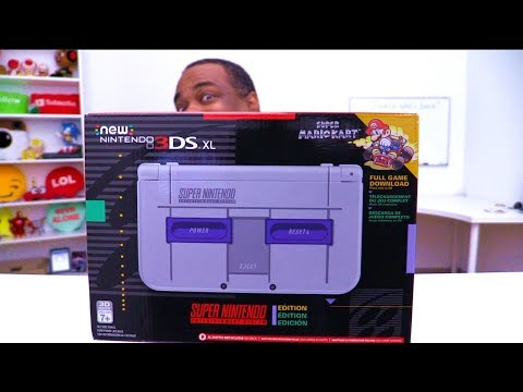HOT NEW Nintendo 3DS XL SNES Edition UNBOXING!