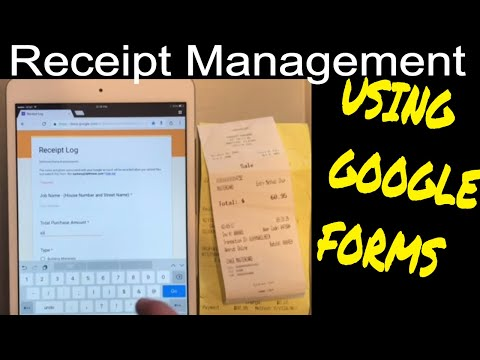 Super Easy Way To Track Receipts and Expenses Using Google Forms