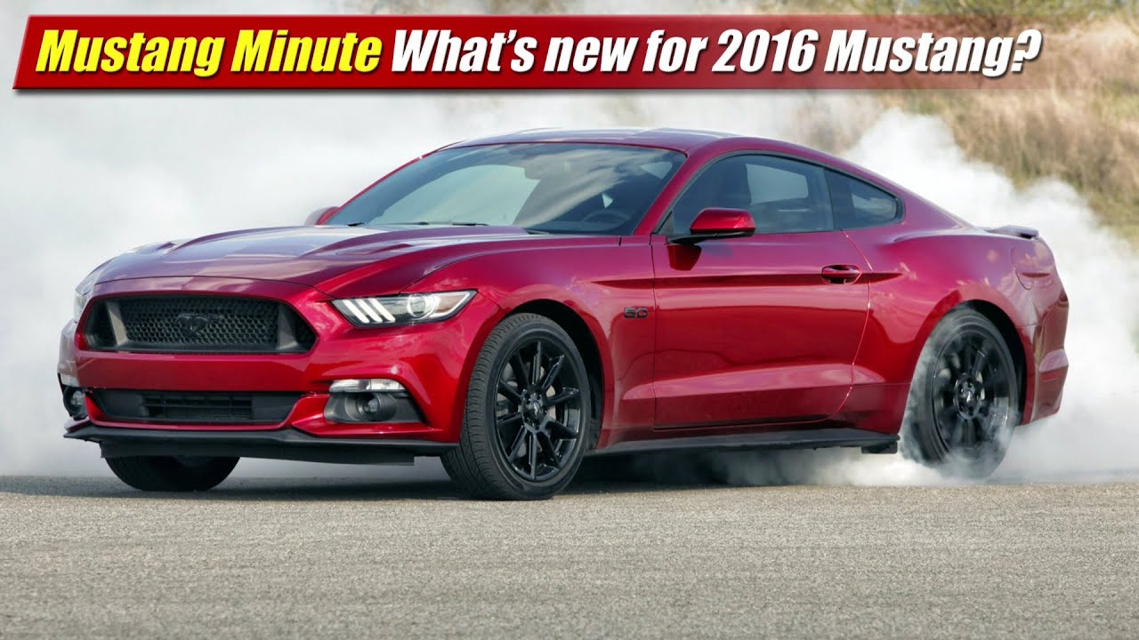 Mustang Minute What S New For 2016