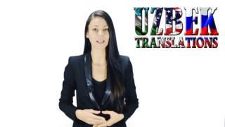 Certified translations from Uzbek to English / Сертифицированные переводы