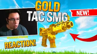 * NEW * GOLD TAC SMG IS OUT!  (Fortnite Stream Highlights)