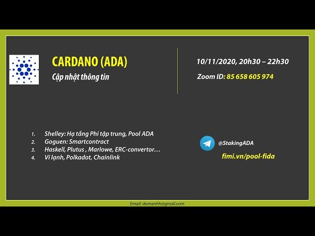 Cập nhật tin tức ADA (Ngày 10.11.2020)