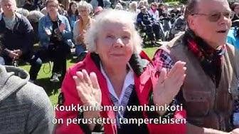 Tampereen Koukkuniemen vanhainkodilla on pitkät perinteet
