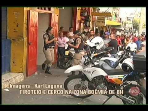 Tiroteio e cerco policial em zona boêmia de BH