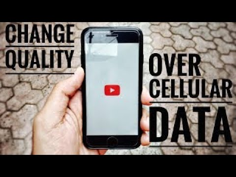 Change To Streaming Quality /mobile data in youtube Iphone