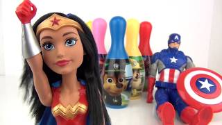 nickelodeon paw patrol bowling set with chase skye marshall toy surprises superheroes tuyc