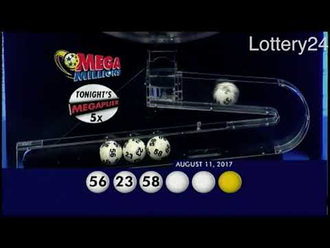 2017 08 11 Mega Millions Numbers and draw results