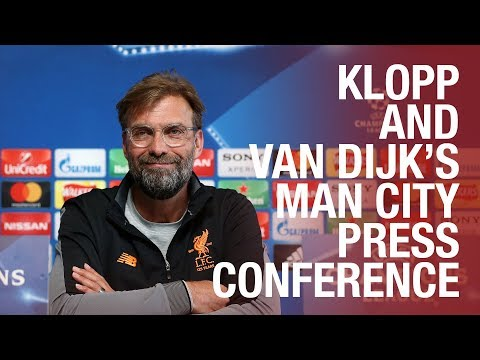Liverpool's pre-Man City Champions League press conference |  Klopp & Van Dijk