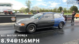 8 SECOND ALL MOTOR CIVIC! 8.94@156mph World Record
