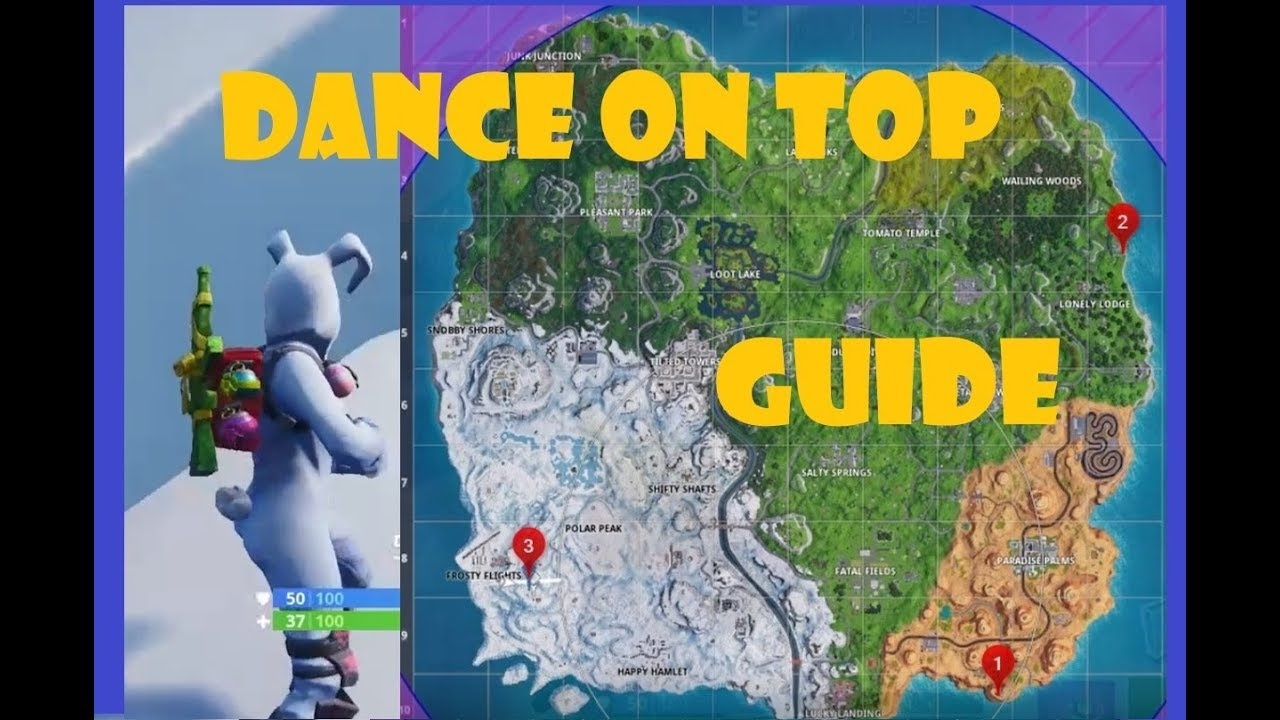 Fortnite Where To Dance On Top Of Rv S Metal Turtle And Submarine