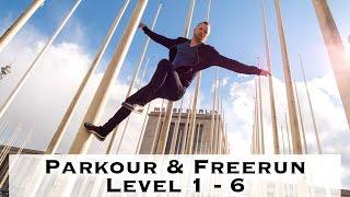 Parkour & Freerunning lernen - Level 1 bis 6 ( deutsch )