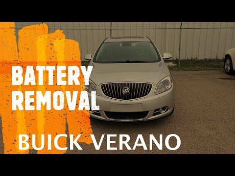 Buick Verano – How to Replace / Remove the Battery (2012-2017)