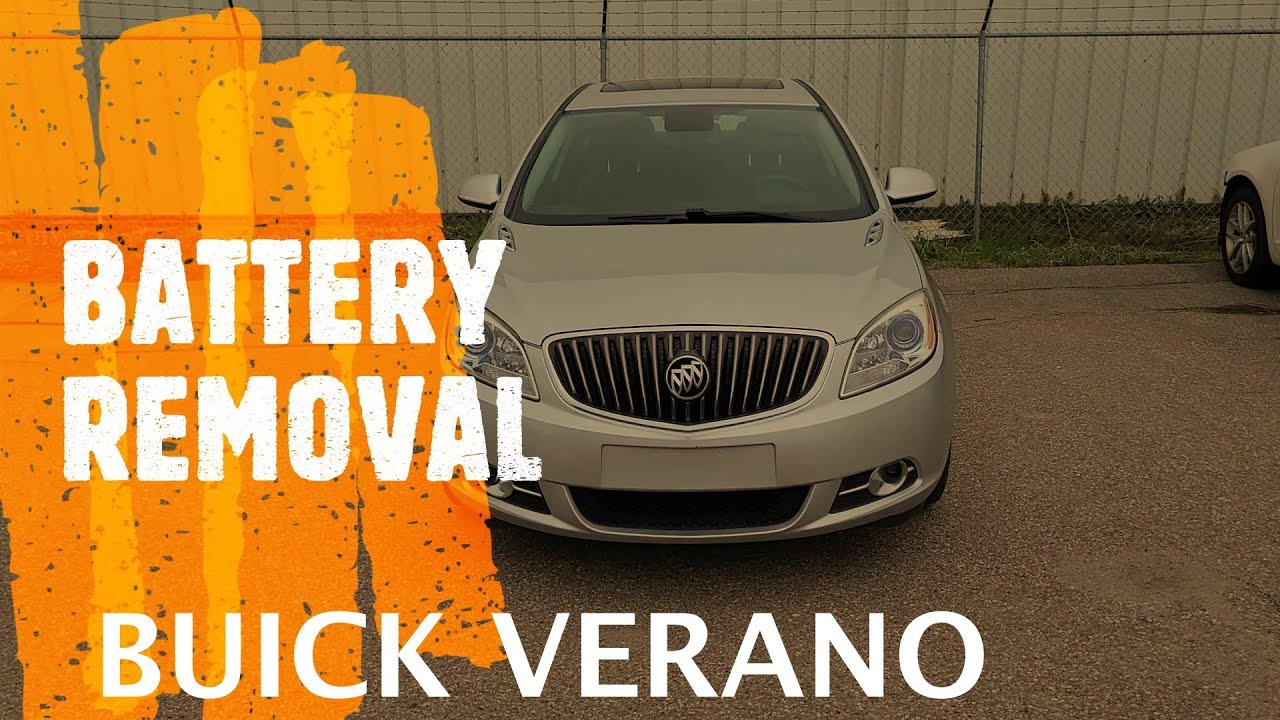Buick Verano   Remove The Battery  2012