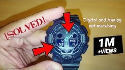 acdb92dee Gshock analog hands and digital display not matching (How to sync Casio  5081) - Duration: 2:46.