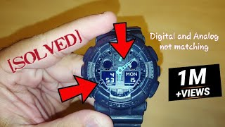 Gshock analog hands and digital display not matching (How to sync Casio 5081)