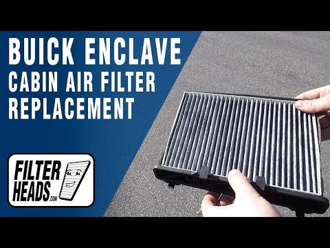 How to Replace Cabin Air Filter 2008 Buick Enclave