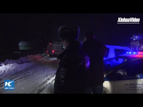LIVE from near crash site after Saratov Airlines plane crash.
