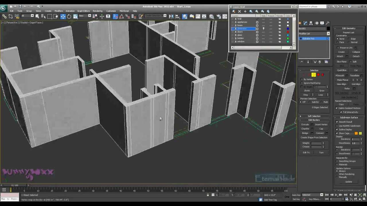 3ds max modelling a complete apartment part 2 youtube for Https roomstyler com 3dplanner