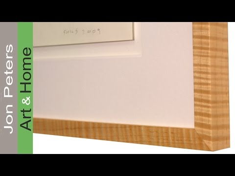 How to make a frame using curly maple / tiger maple I found at Lowes