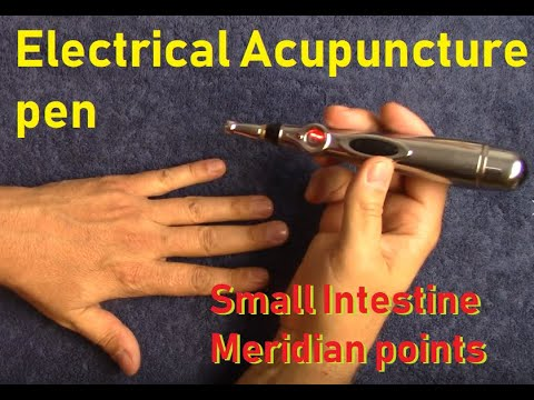 Electric acupuncture pen for Small Intestine meridian (clearing out energies)