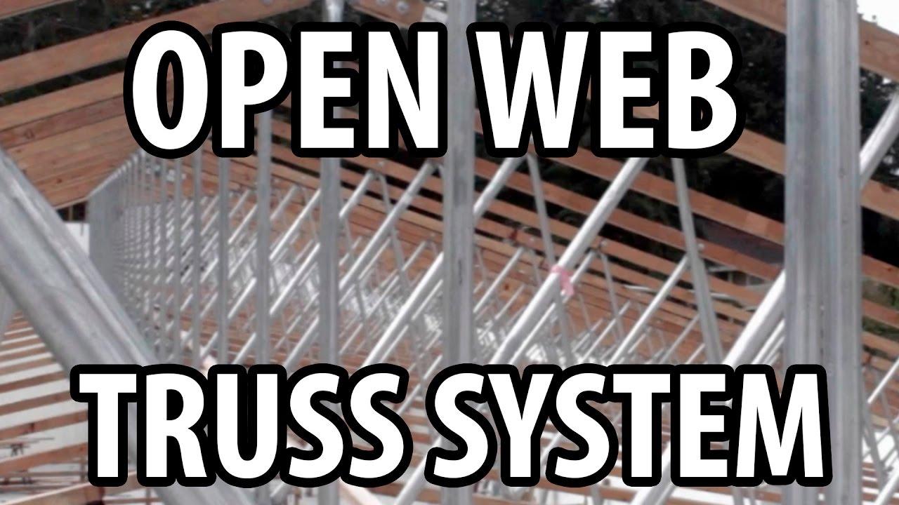 Open Web Truss Design On Modern Office Building Youtube