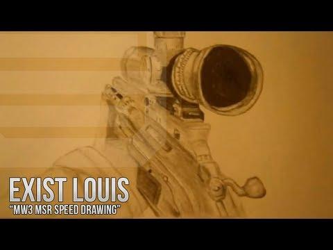 MW3 MSR Speed Drawing / Exist Louis