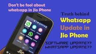 Download [New] Whatsapp update in Jio Phone || Myth || Reality check ||  Don't be fool || Mp3 and Videos