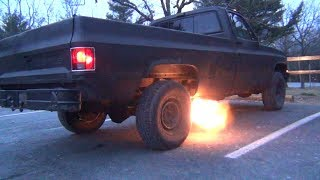 86' Chevy Silverado Spittin' Flames...Is This How It Feels To Be