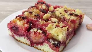 Пирог со сливами 🔶  Сочный сливовый пирог