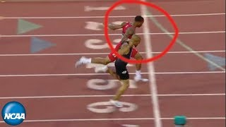 Photo finish in men's 400m at 2019 NCAA Outdoor Championship