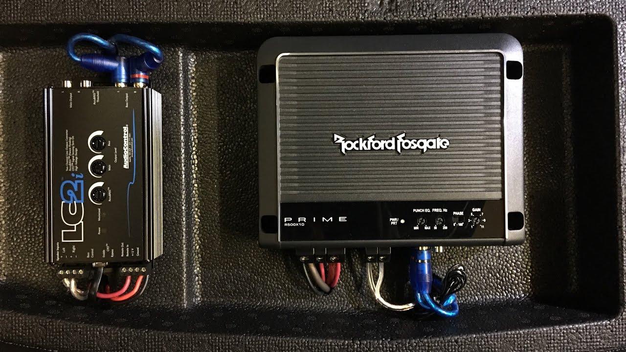 honda civic type  subwoofer amplifier installation youtube