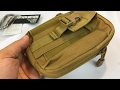 EDC Waist Pack Hiking Gadget Pouch Cell Phone Holder Case by Northern Brothers review
