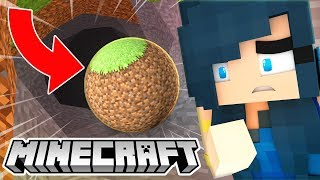 WHAT IF MINECRAFT WAS ROUND? (Minecraft Mods)