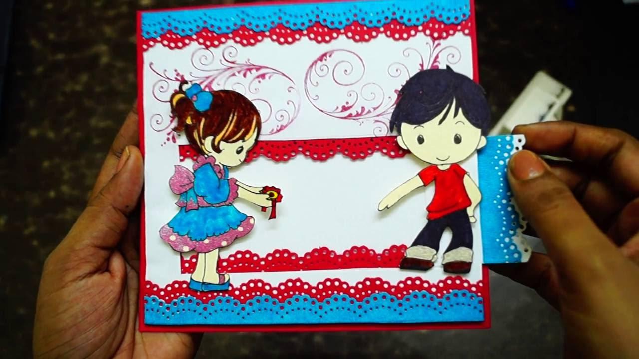 Handmade Rakhi Card Rakshabandhan Card The Sucrafts Youtube