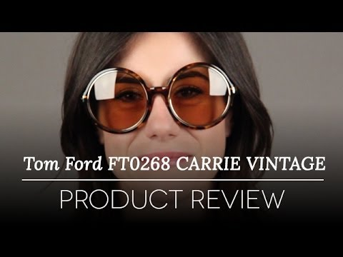 1d9407b2bc Tom Ford Sunglasses Review - Tom Ford Carrie Vintage Sunglasses FT0268 52J  E Review - YouTube