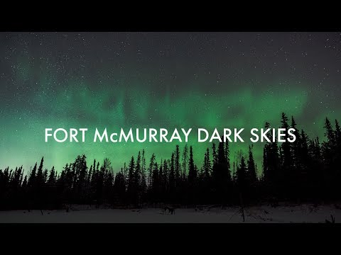 Fort McMurray starlight and northern lights time lapse   Alberta, Canada