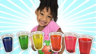 Learn Colors with Colored Water for Children Toddlers | Bad Kid Learns Colours Like FunToysMedia