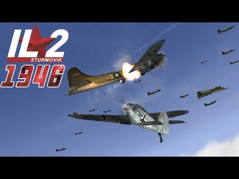 IL-2 1946: B-17 Flying Fortresses attacked by Fighters