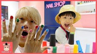 유치원생 미니 네일 아티스트 되다! 알록달록 말이야 색깔 손톱 만들기 놀이 ♡ 색깔놀이 리쏘빌 어린이 직업체험 키즈카페 kids colors | 말이야와아이들 MariAndKids