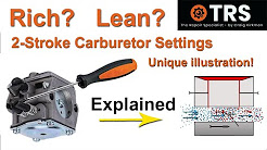 How to Adjust & Understand 2 Stroke Cycle Carburettor/What is Rich Lean/Help Fix Your Own/Save Money