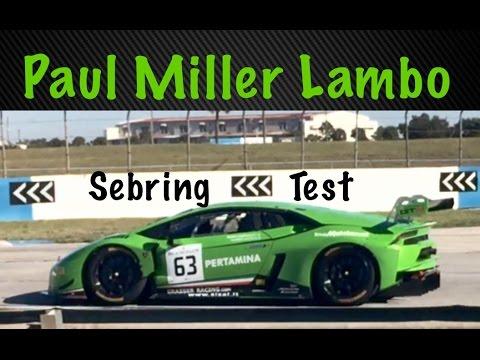 IMSA GTD Paul Miller Racing Lamborghini Sebring 11-23-15