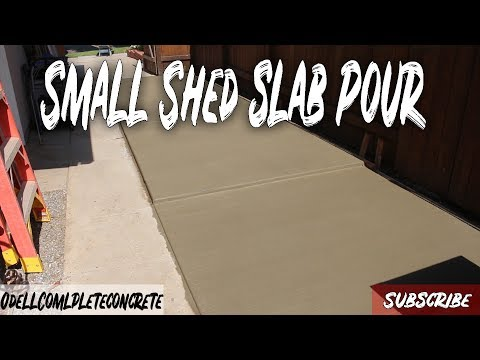 How to Pour a Small Concrete Shed Slab