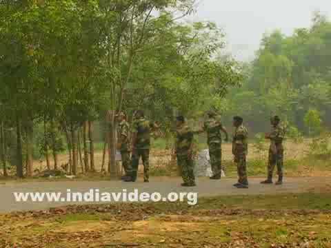 India- Bangladesh border at Agartala