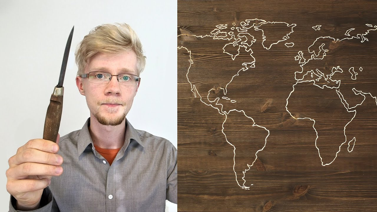 DIY World Map Project - YouTube