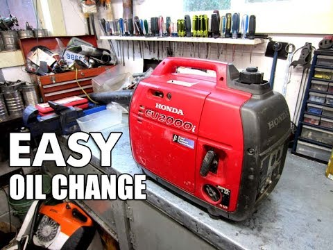 NO Mess OIL Change On Honda Inverter Generator