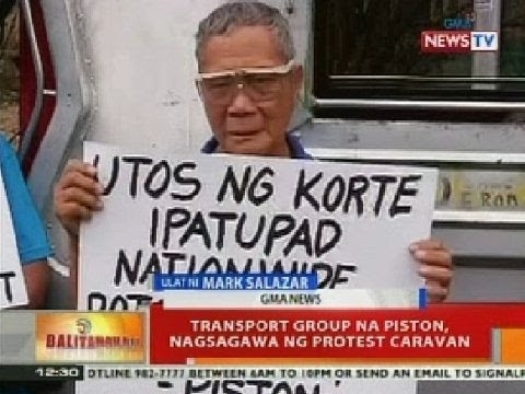 Transport group na Piston, nagsagawa ng protest caravan