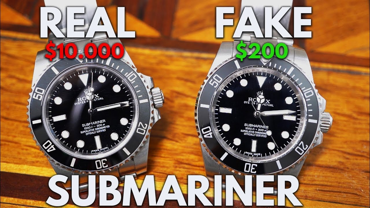 REAL vs FAKE ROLEX , ROLEX Submariner 114060 Replica